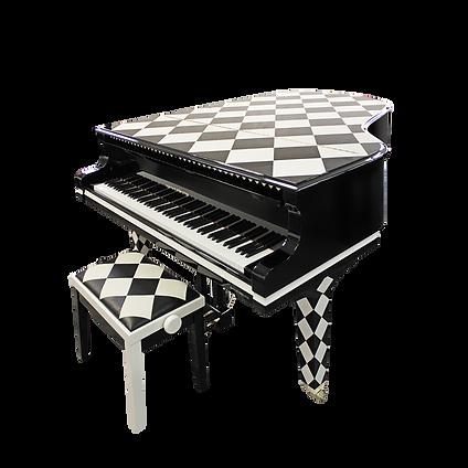 Черный и белый рояль Шах August Forster Schach (фото)