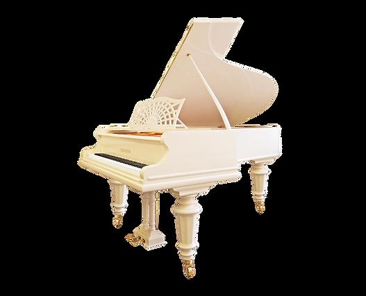 Классический белый салонный рояль К_Бехштейн (фото)
