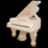 Старинный белый рояль Steingraeber & Söhne (Германия) дизайна Классик (фото)