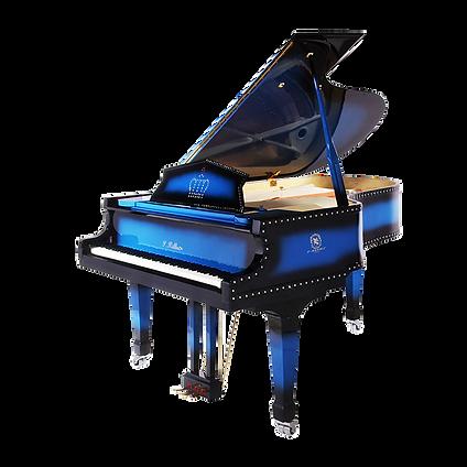 Красивый голубой рояль «Алмазный блюз» (фото)