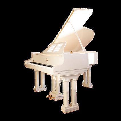 Красивый белый рояль «Наполеон» с колоннами (фото)