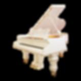 Классический белый рояль Бехштейн классического дизайна (фото)