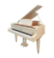 Белый австрийский рояль Музыка-Бёзендорфер Австрия (фото)