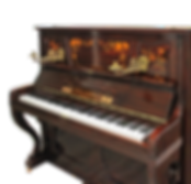 Инкрустированное немецкое пианино с подсвечниками (фото)