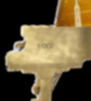Элитный золотой рояль Сусальное золото FAZIOLI (фото)