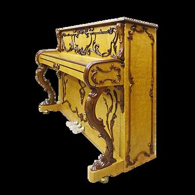 Немецкое пианино фортепиано дизайна рококо (фото)