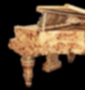 Кабинетный немецкий рояль Блютнер в коричневых тонах с отделкой ценными породами дерева (фото)