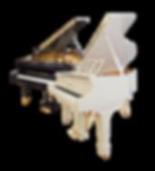 Мини рояль Блютнер Blüthner немецкий белый дизайна ар-деко (фото)