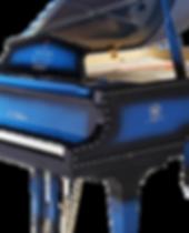 Риттер рояль дизайнерский со стразами голубого цвета, фото