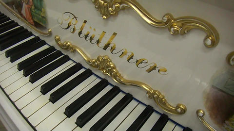 Рояль с живописью Блютнер немецкий классический кабинетный