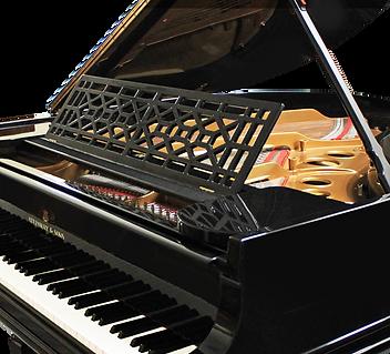 Черный рояль дизайна ар-деко Стейнвей (фото)