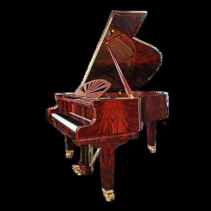 Красивый кабинетный рояль Аугуст Фёрстер Саксония «пирамидальный махагон» (фото)