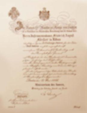 Королевский патент Августа Фёрстера (1853) фото