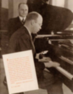 Сергей Прокофьев за роялем August Förster, фото 1937 года