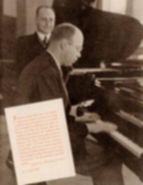 Сергей Прокофьев играет Герхарду Фёрстеру (1937), фото