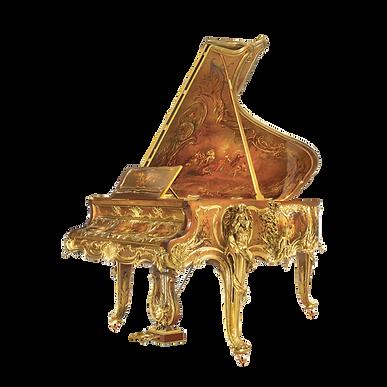 Рояль Эрмитаж Hermitage дизайна рококо Людовик XV золото, бронза, живопись, скульптуры (фото)