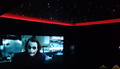 custom home cinema installation
