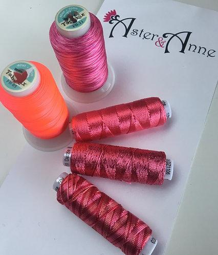 Chain of Hearts Threads - Flamingo 5