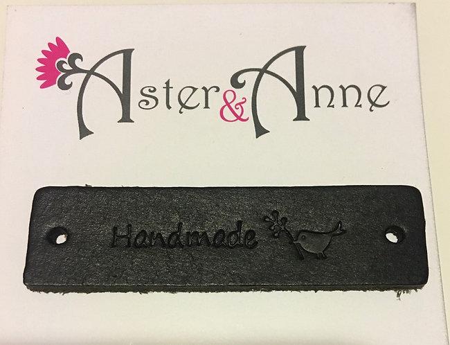Label Leather - Handmade Bird Black