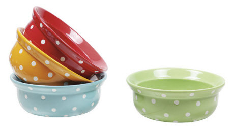 8' Stoneware Polka Dot Bakers