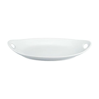 Oval Platter with Die Cut Handles