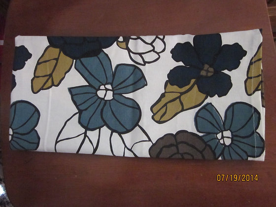 Blue & Green Flower Towels - Set of Two