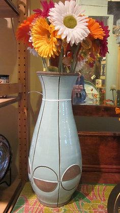 Tall Aqua Vase
