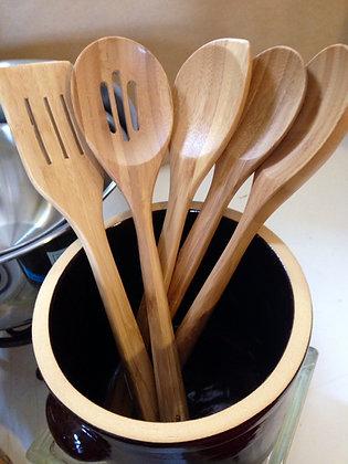 Bamboo Utensils, set of 5
