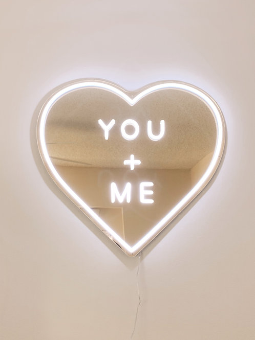 Custom Gold Mirror Heart Sign