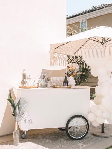 Large Runaway Tipsy Bar Cart