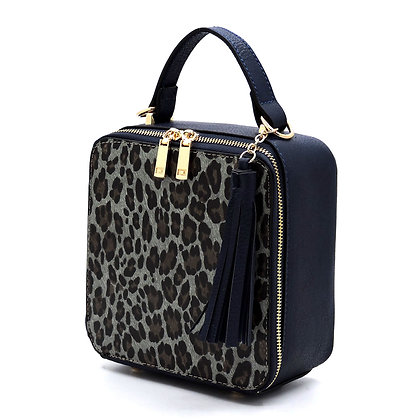 Alyssa Leopard Tassel Boxy