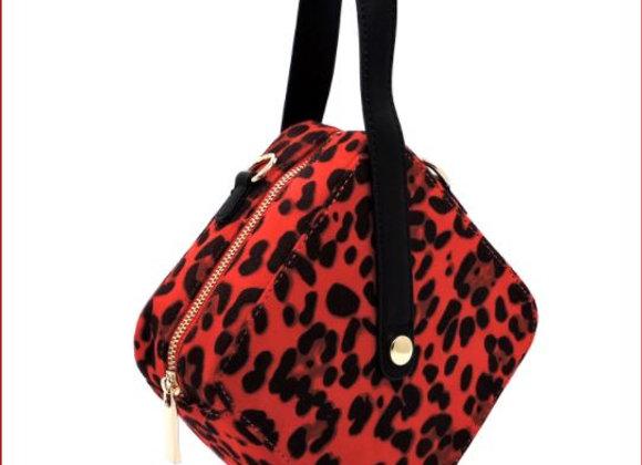 Leopard Suede Boxy Crossbody Bag