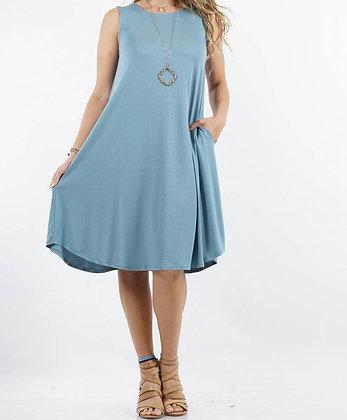 Sleeveless Swing Dress w/ pockets