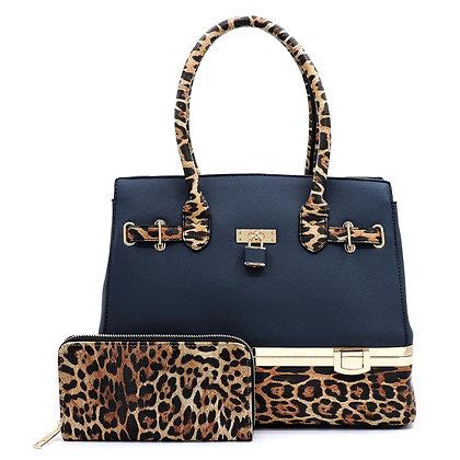2 Piece Leopard Colorblock Padlock
