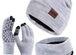 Beanie Hat, Scarf & Glove Set