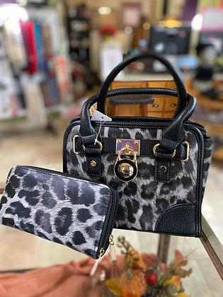 2 Piece Leopard Faux Leather