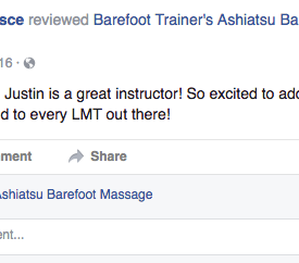 Rachael Pesce-barefoot trainers ashiatsu