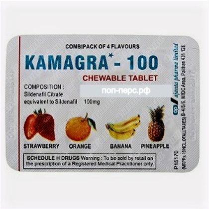 Купить в Москве Kamagra 100 mg – 4 таблетки