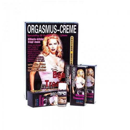 Возбуждающие капли для девушек «Orgasmus-creme beauty treasure» используются представительницами прекрасного пола для усилени