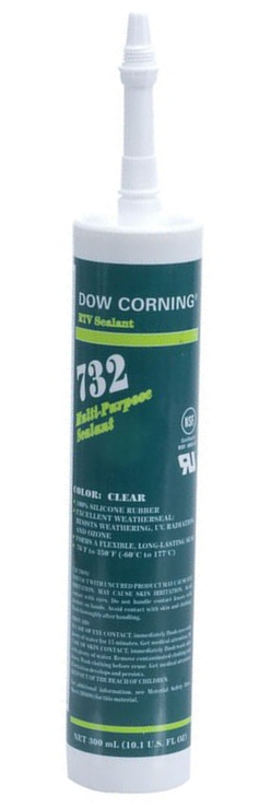 Dow Corning 732 Multi-purpose Silicone Sealant - Clear 300 ml Cartridge