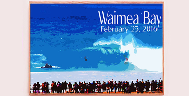 Eddie Aikau Memorial Surf Contest at Waimea Bay on February 25, 2016