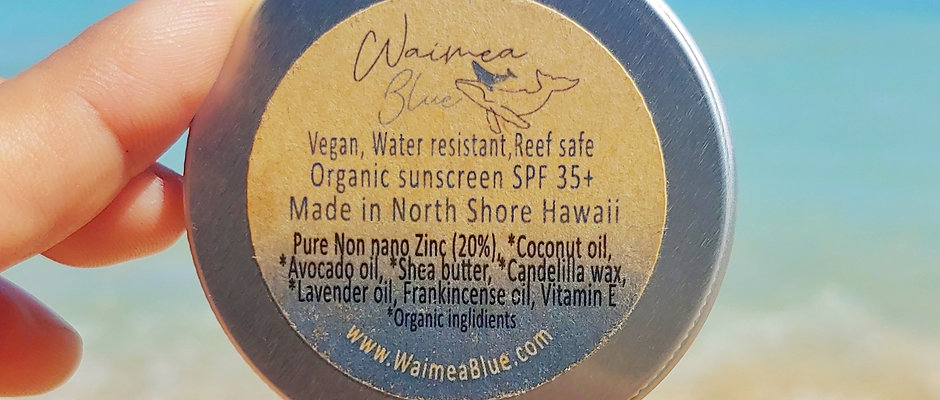 Reef Safe Natural Sunscreen (for your skin & our Ocean)