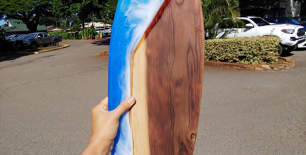 """28"""" Japanese Sugi and Epoxy Resin with Two Honu"""