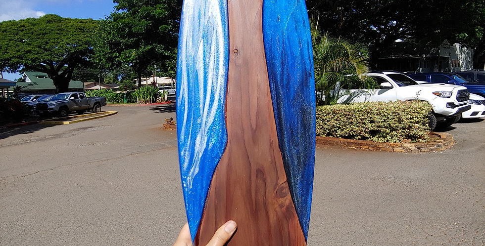 "28"" Japanese Sugi and Epoxy Resin"