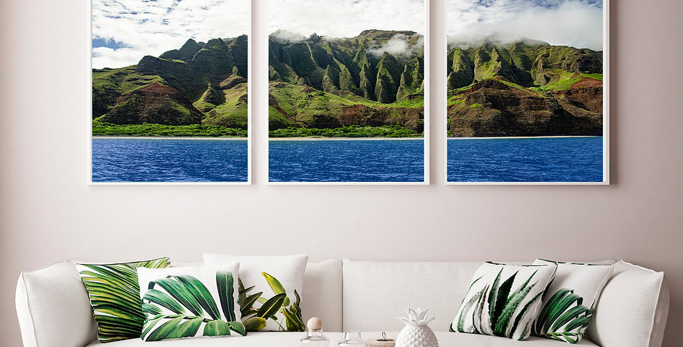 "Hawaii ""Art By Rain"" Triptych"