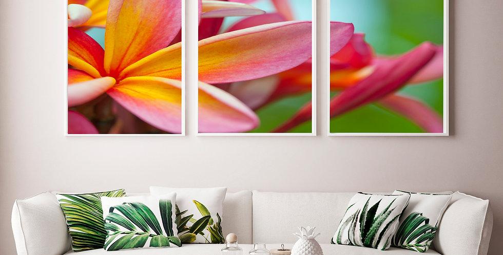 "Hawaii ""Magenta"" Triptych"