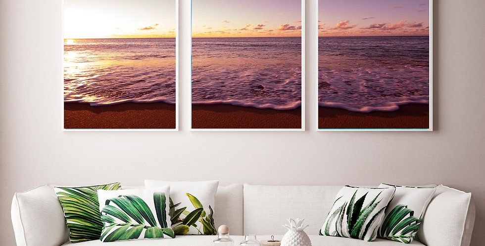 "Hawaii ""Sunset At Sunset"" Triptych"