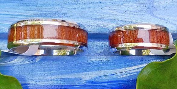 Koa and Titanium Ring