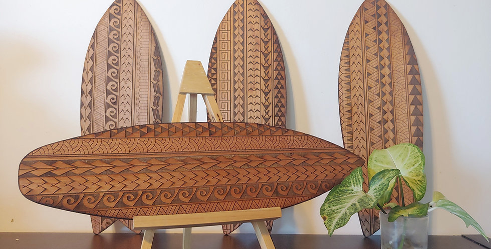 """Hawaiian Tribal Surfboard Art 16"""""""