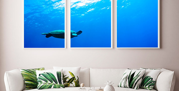 """""""Blue Happiness"""" Triptych"""